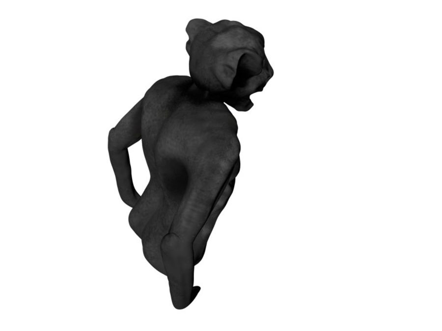 Gargouille Notre Dame royalty-free 3d model - Preview no. 3