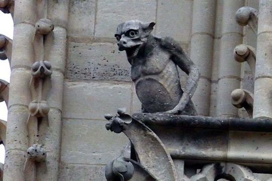 Notre Dame Gargoyle royalty-free 3d model - Preview no. 6