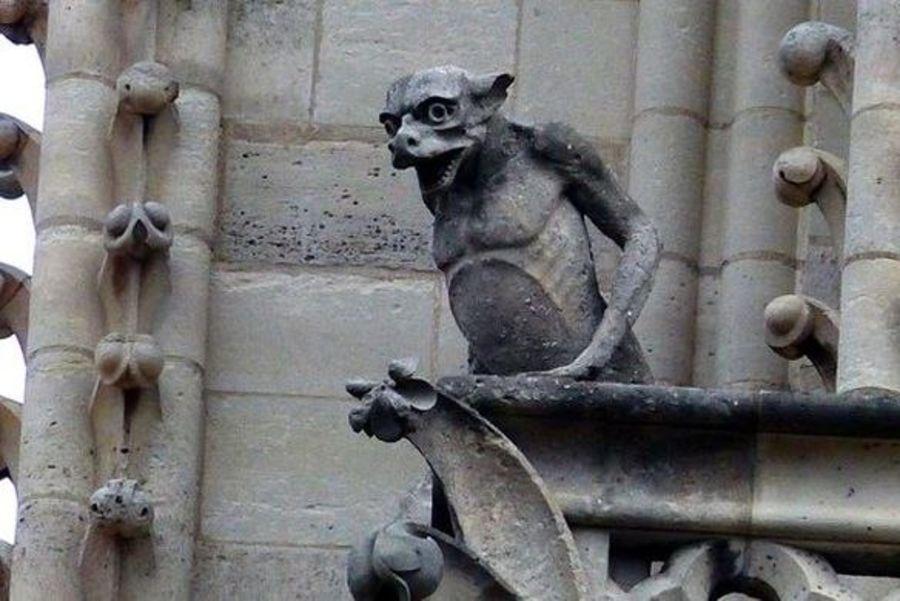 Gargouille Notre Dame royalty-free 3d model - Preview no. 6