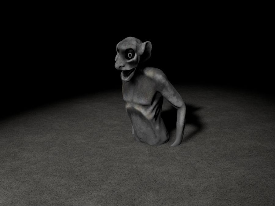 Notre Dame Gargoyle royalty-free 3d model - Preview no. 1