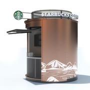 Starbucks Kiosk 3d model