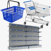 Drie supermarktcollectie 3d model