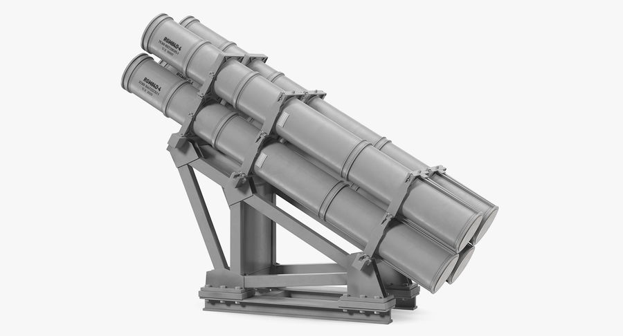 MK 141 Missile Launching System RGM 84 Harpoon SSM Navy 3D Model royalty-free 3d model - Preview no. 5