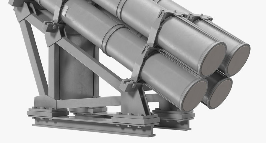 MK 141 Missile Launching System RGM 84 Harpoon SSM Navy 3D Model royalty-free 3d model - Preview no. 8