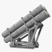 MK 141 Missile Launching System RGM 84 Harpoon SSM Navy 3D Model 3d model