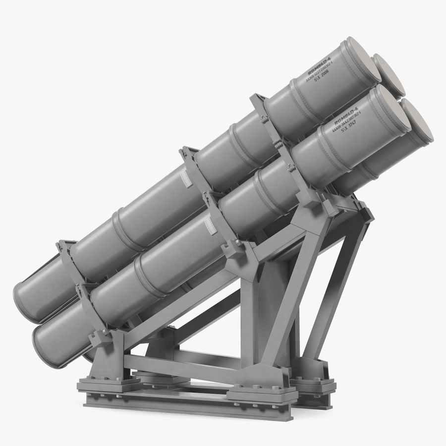 MK 141 Missile Launching System RGM 84 Harpoon SSM Navy 3D Model royalty-free 3d model - Preview no. 1