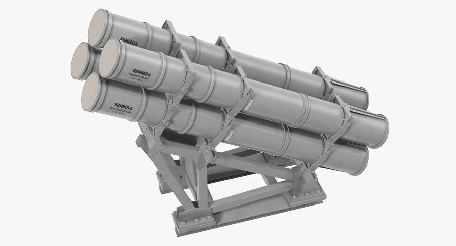 MK 141 Missile Launching System RGM 84 Harpoon SSM Navy 3D Model royalty-free 3d model - Preview no. 6