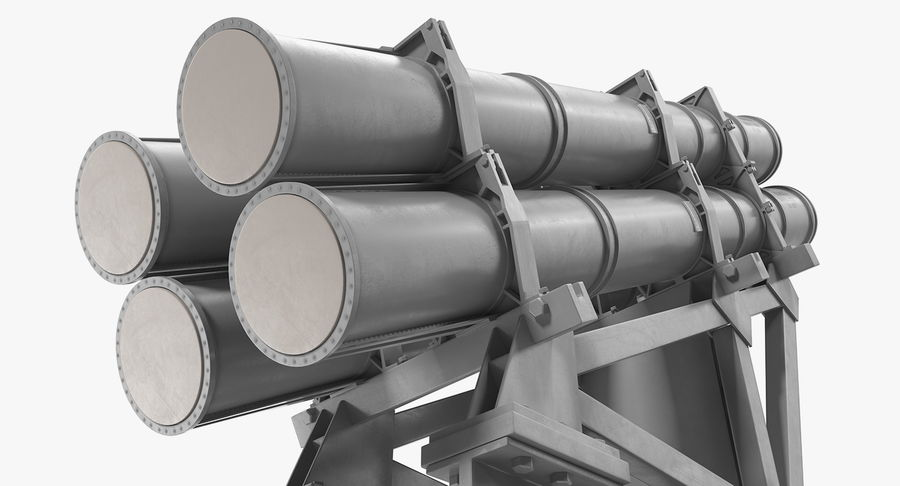 MK 141 Missile Launching System RGM 84 Harpoon SSM Navy 3D Model royalty-free 3d model - Preview no. 10