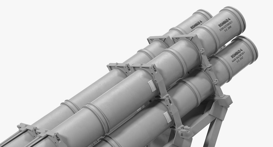 MK 141 Missile Launching System RGM 84 Harpoon SSM Navy 3D Model royalty-free 3d model - Preview no. 9