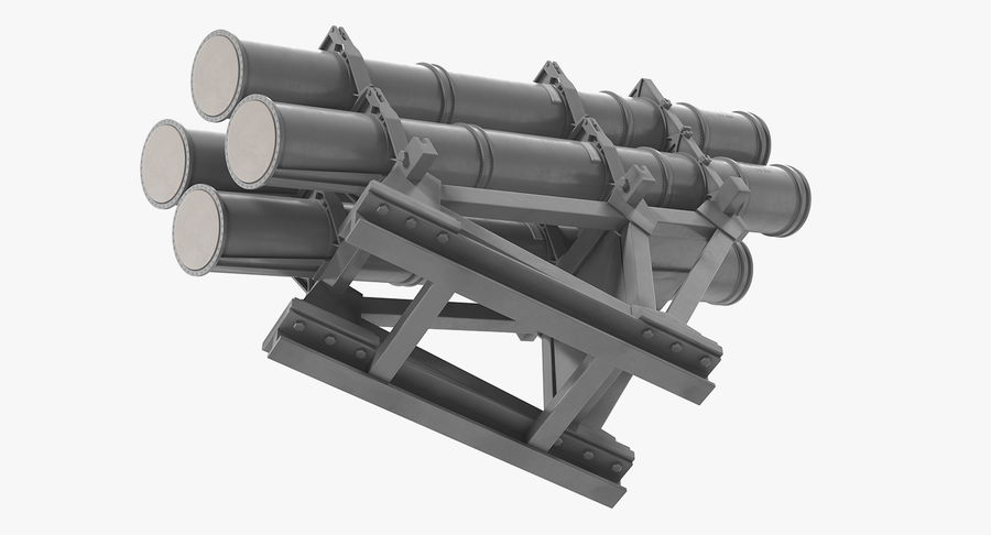 MK 141 Missile Launching System RGM 84 Harpoon SSM Navy 3D Model royalty-free 3d model - Preview no. 7