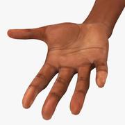 Krótkie paznokcie kobiety z Azji / Ameryki 3d model