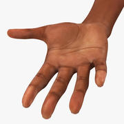 Asian/ Americas Female Hand Short Nails 3d model