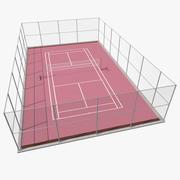 Odkryty model badmintona 3D 3d model