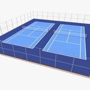 Model 3D odkryty kort tenisowy 3d model