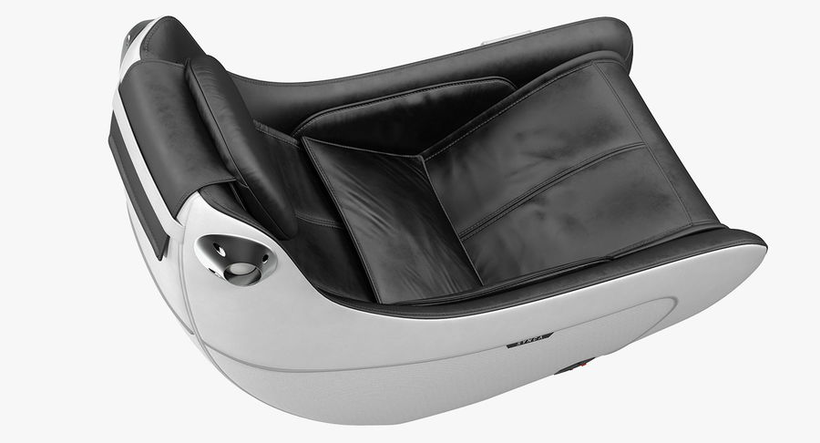 Synca Wellness Massage Chair Black royalty-free 3d model - Preview no. 5