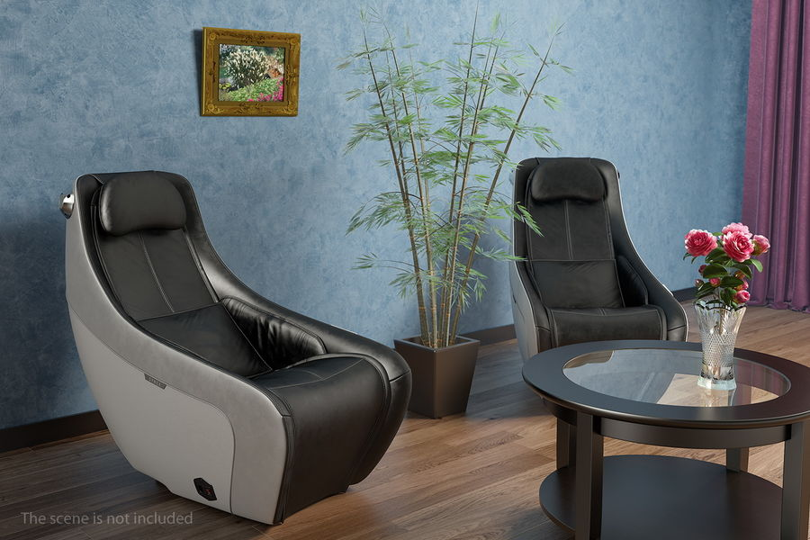 Synca Wellness Massage Chair Black royalty-free 3d model - Preview no. 3