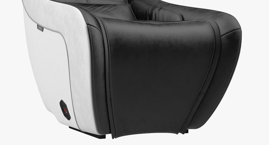 Synca Wellness Massage Chair Black royalty-free 3d model - Preview no. 8
