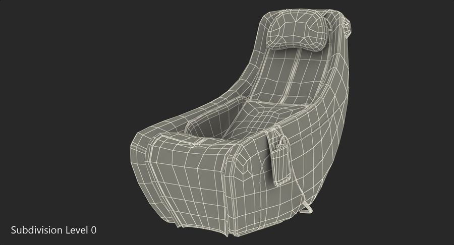 Synca Wellness Massage Chair Black royalty-free 3d model - Preview no. 12