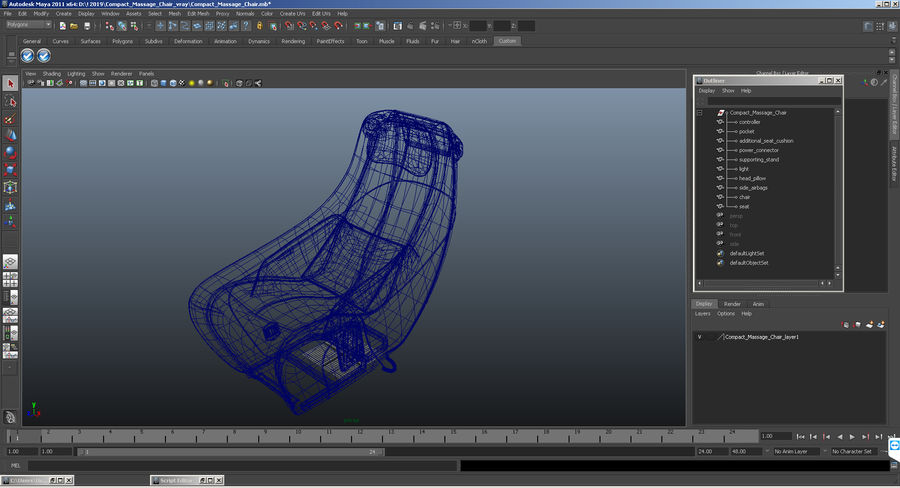 Synca Wellness Massage Chair Black royalty-free 3d model - Preview no. 16
