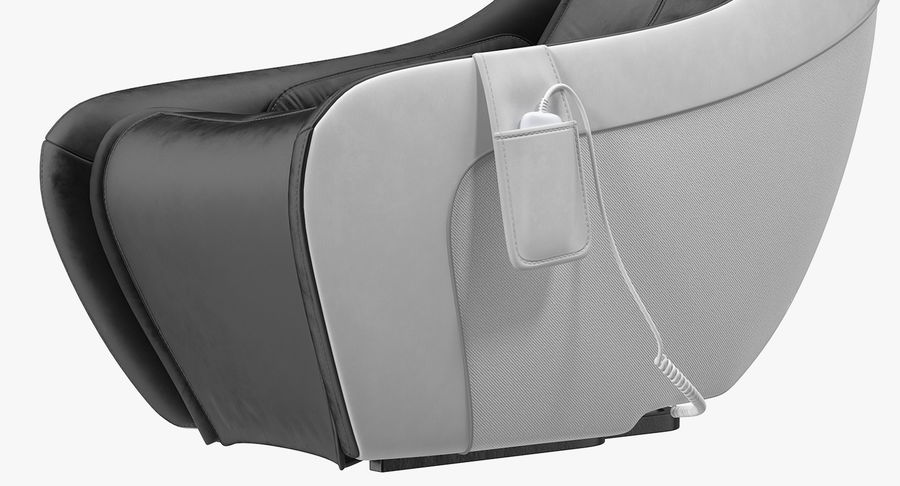 Synca Wellness Massage Chair Black royalty-free 3d model - Preview no. 7