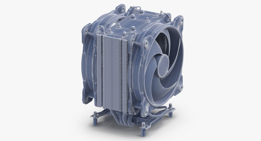 CPU Fan royalty-free 3d model - Preview no. 12