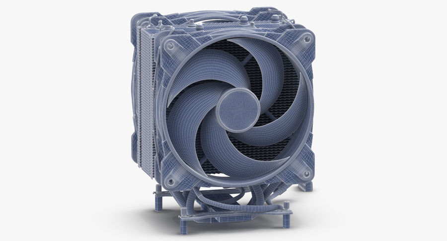 CPU Fan royalty-free 3d model - Preview no. 10