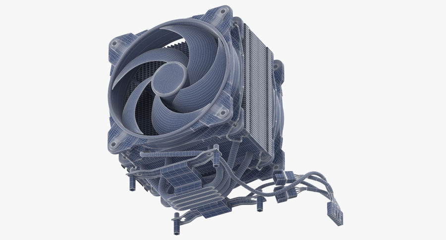 CPU Fan royalty-free 3d model - Preview no. 16