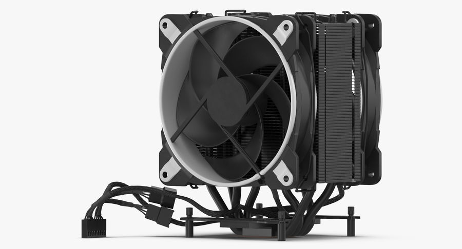 CPU Fan royalty-free 3d model - Preview no. 8