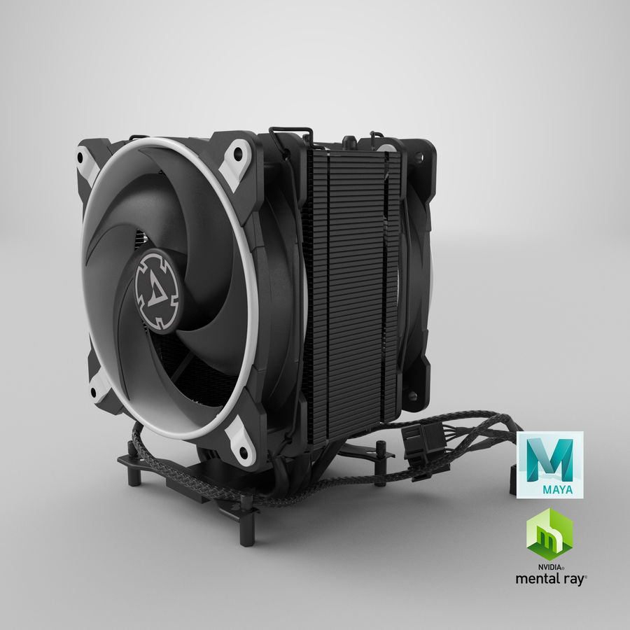 CPU Fan royalty-free 3d model - Preview no. 19