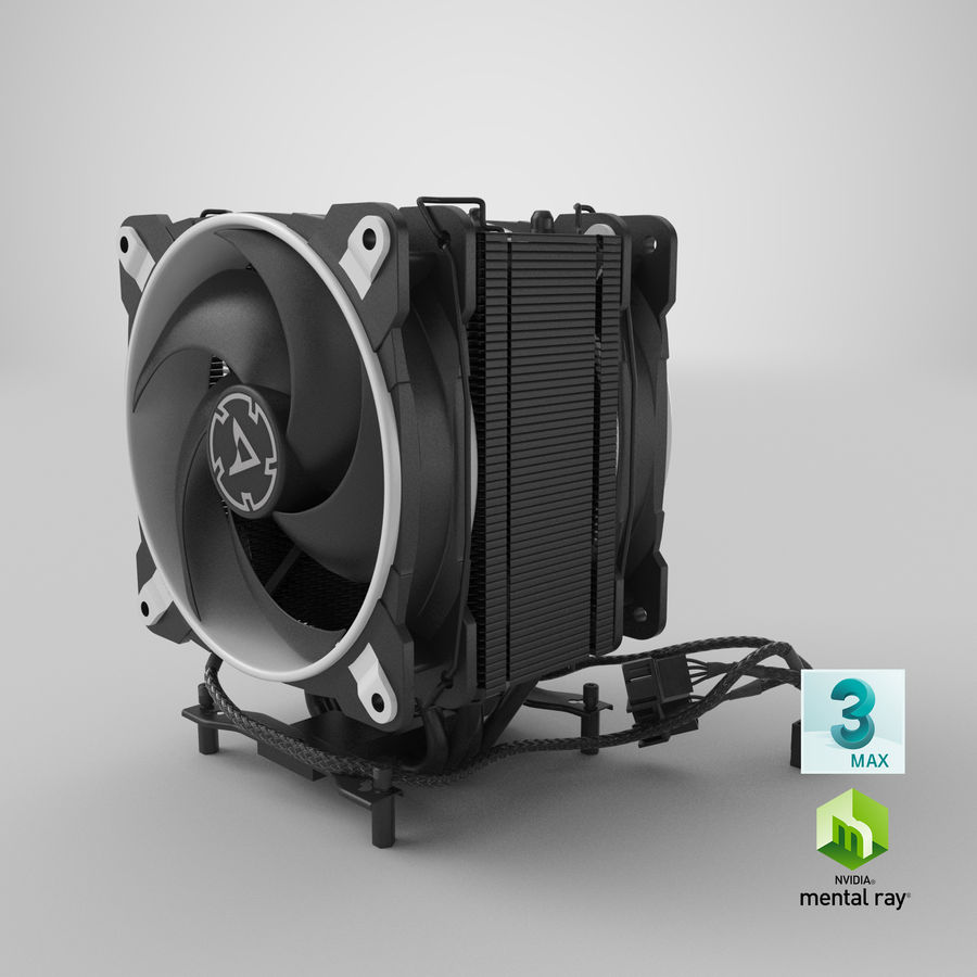 CPU Fan royalty-free 3d model - Preview no. 21