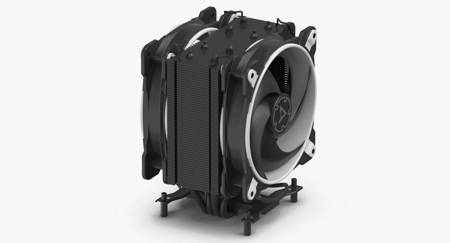 CPU Fan royalty-free 3d model - Preview no. 5
