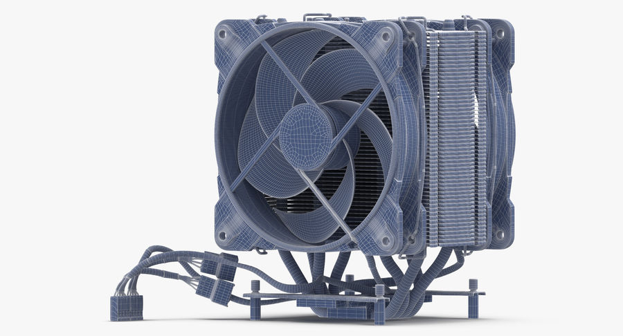 CPU Fan royalty-free 3d model - Preview no. 15