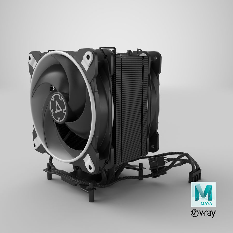 CPU Fan royalty-free 3d model - Preview no. 18
