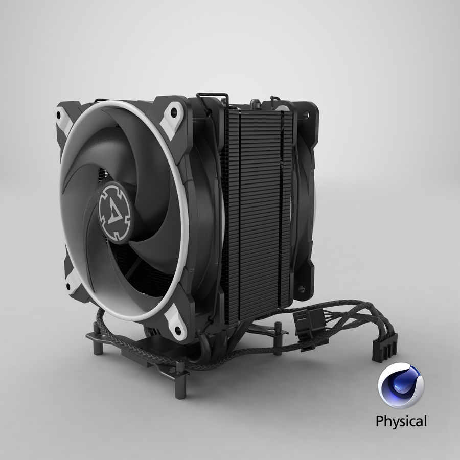 CPU Fan royalty-free 3d model - Preview no. 22