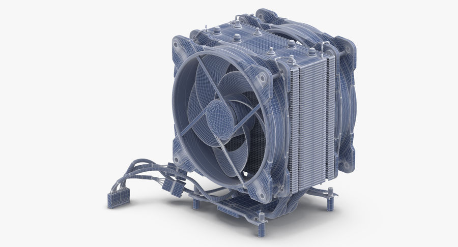CPU Fan royalty-free 3d model - Preview no. 11