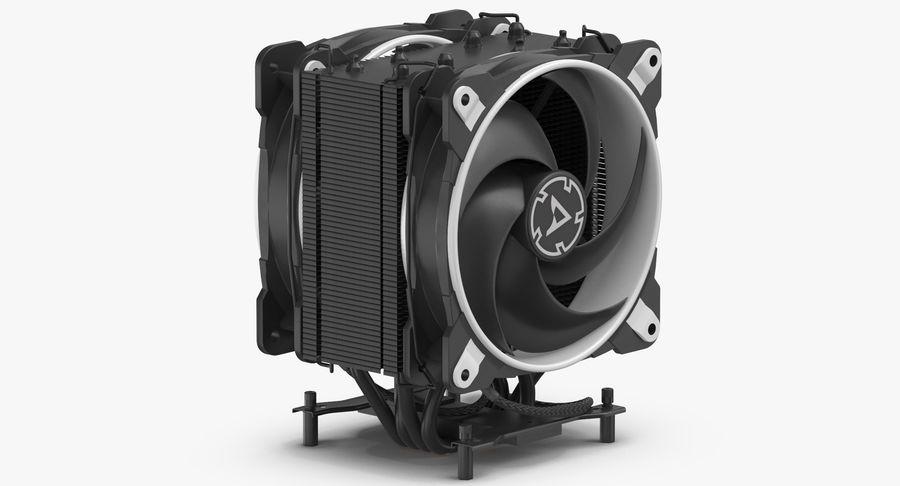 CPU Fan royalty-free 3d model - Preview no. 7