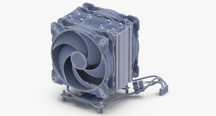 CPU Fan royalty-free 3d model - Preview no. 13