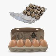 3 Boyutlu Model Koleksiyonundaki Yumurtalar 3d model