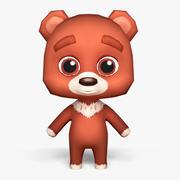 Cartoon Bear - Mobil spelmodell 3d model