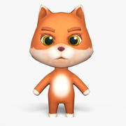 Cartoon Fox - Modello di gioco mobile 3d model