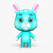 Cartoon Rabbit - Modello di gioco mobile 3d model