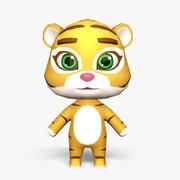 Cartoon Tiger - Modello di gioco mobile 3d model