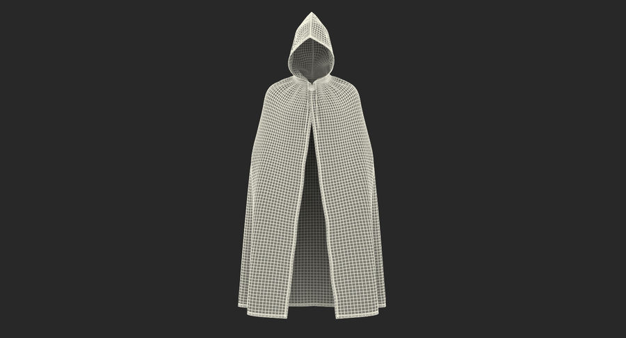 Cape Noire ou Cape à Capuche royalty-free 3d model - Preview no. 15