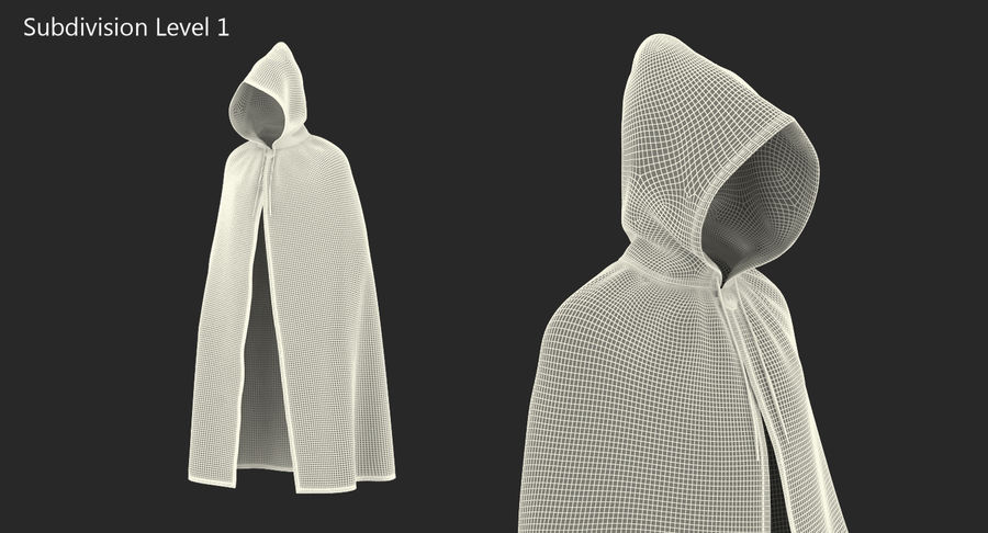Cape Noire ou Cape à Capuche royalty-free 3d model - Preview no. 9