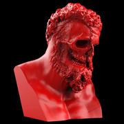 Busto de cara rasgada de Hércules modelo 3d