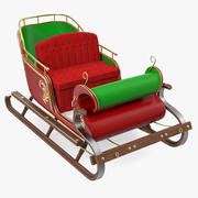 Santa Sleigh with Fur Modèle 3D 3d model
