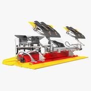 Trail Snow Groomer Rigged 3D Model 3d model