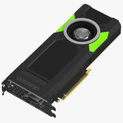 Nvidia Quadro P5000 GPU 3d model