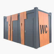 Quiosco de baño público modelo 3d