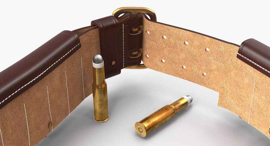 Martini Henry Ammo Bandolier royalty-free 3d model - Preview no. 10